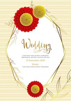 Design de cartão de casamento