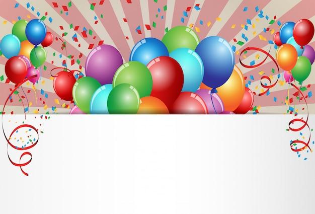 Design de cartão de comemoração de aniversário