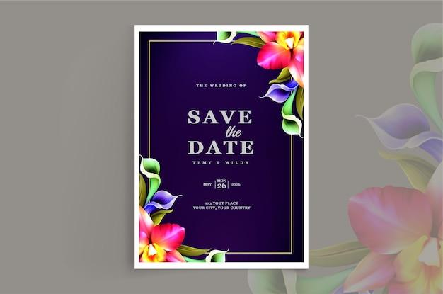 Design de cartão de convite de casamento de luxo
