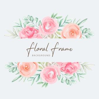 Design de cartão de convite de casamento em aquarela