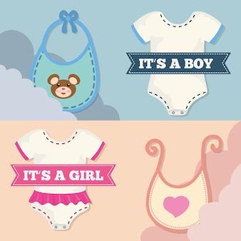 Design de cartão de convite de chuveiro de bebê