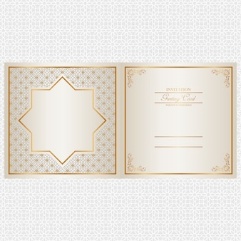 Design de cartão de convite de ouro