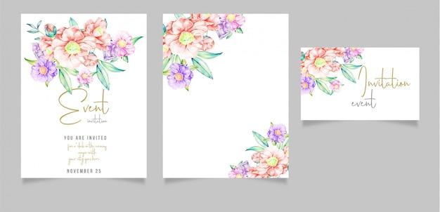 Design de cartão de convite editável com