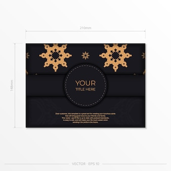Design de cartão de convite luxuoso com ornamento vintage abstrato. pode ser usado como plano de fundo e papel de parede. elementos elegantes e clássicos do vetor são ótimos para decoração.