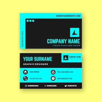 Design de cartão de cor neon