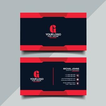 Design de cartão de cor vermelha