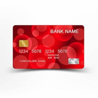 Design de cartão de crédito vermelho