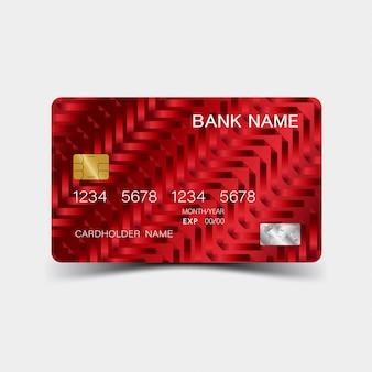 Design de cartão de crédito vermelho.