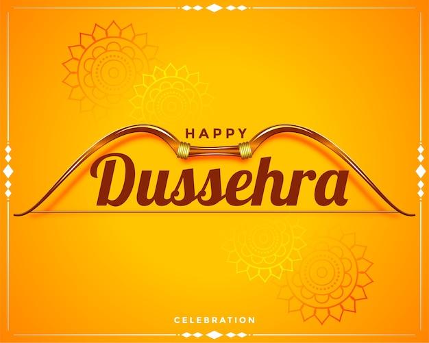 Design de cartão de desejos para saudação feliz do festival dussehra