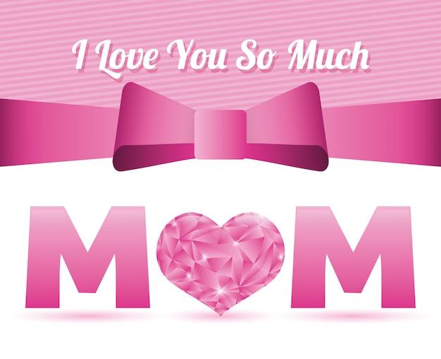 Design de cartão de dia das mães feliz.