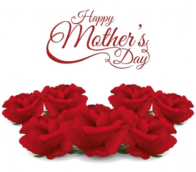 Design de cartão de dia das mães.