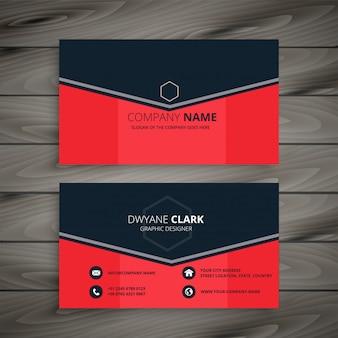Design de cartão de empresa vermelho elegante