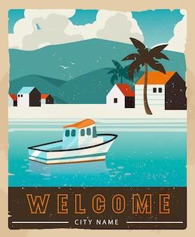 Design de cartão de férias