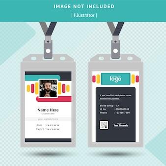 Design de cartão de identificação colorido