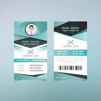 Design de cartão de identificação de diretor criativo