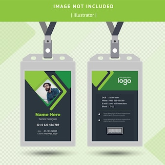 Design de cartão de identificação verde