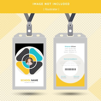 Design de cartão de identificação Vetor Premium