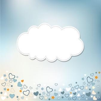 Design de cartão de modelo para o aniversário bebê chuveiro ou de casamento