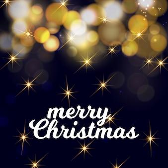Design de cartão de natal com design elegante e fundo escuro