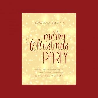 Design de cartão de natal com design elegante e vector de fundo vermelho