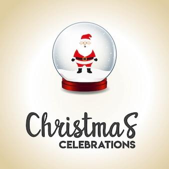 Design de cartão de natal com design elegante vector