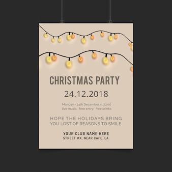 Design de cartão de natal com design elegante