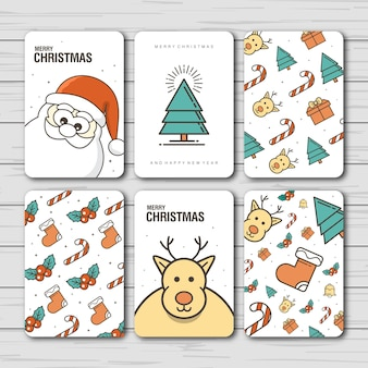 Design de cartão de natal e ano novo
