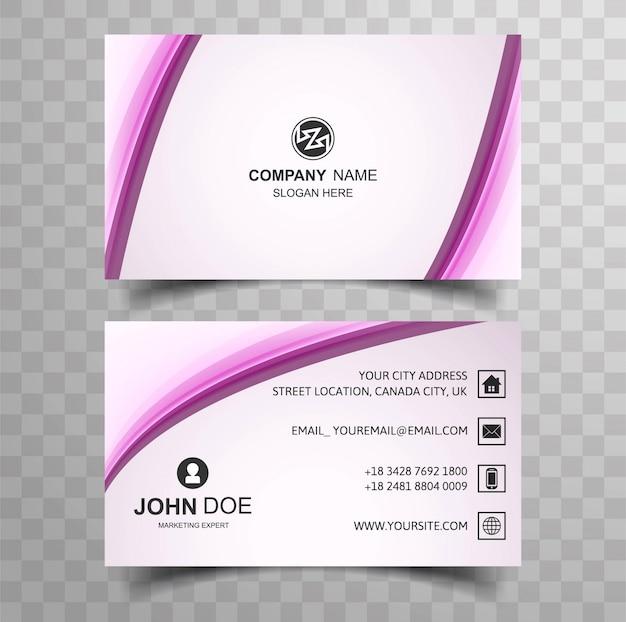Design de cartão de negócio moderno
