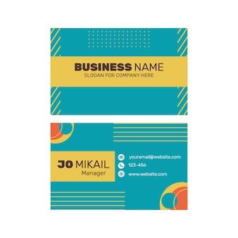 Design de cartão de negócios frente e verso marketing empresarial