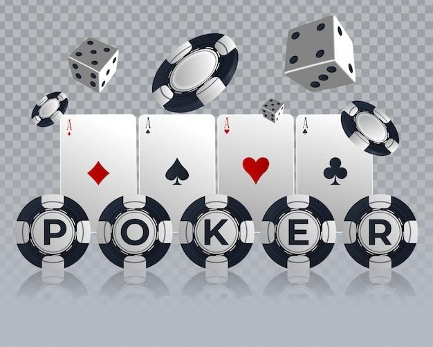 Design de cartão de poker de casino