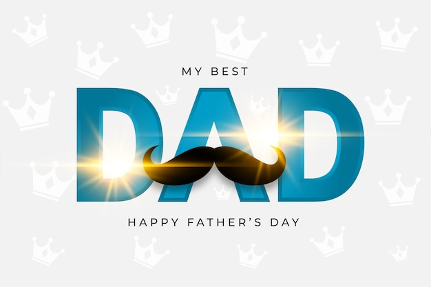 Design de cartão de saudação brilhante feliz dia dos pais