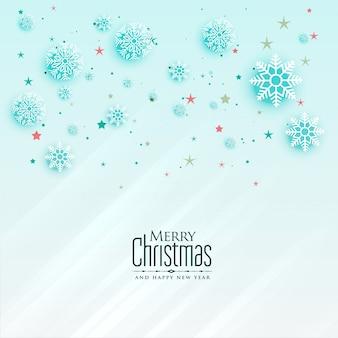 Design de cartão de saudação de flocos de neve de natal bonito