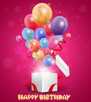 Design de cartão de saudações feliz aniversário
