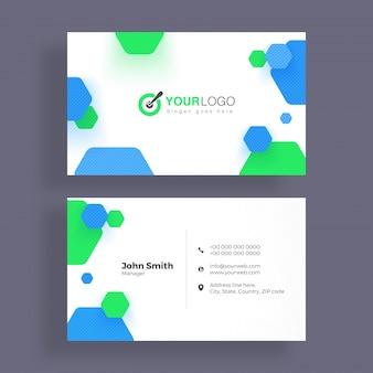 Design de cartão de visita abstrato. cartão de visita horizontal.