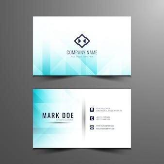 Design de cartão de visita abstrato e elegante