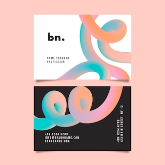 Design de cartão de visita abstrato gradiente