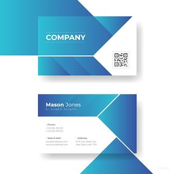 Design de cartão de visita abstrato
