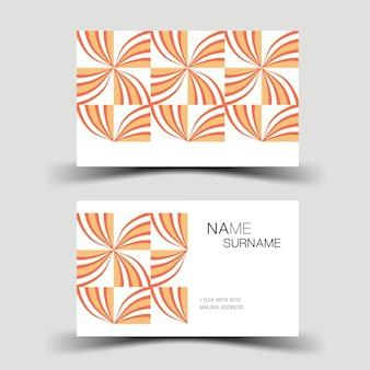 Design de cartão de visita cartão de contato para a empresa ilustração em vetor de dois lados