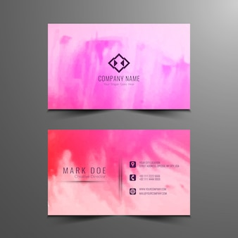 Design de cartão de visita colorido abstrato