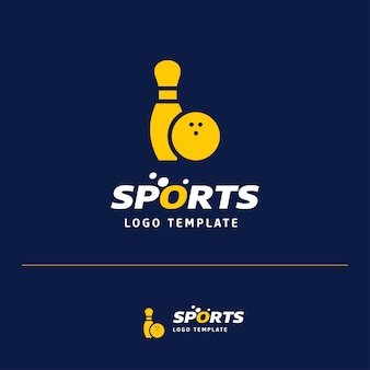 Design de cartão de visita com logotipo de esportes