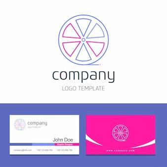 Design de cartão de visita com vetor de logotipo de empresa de frutas