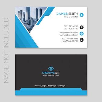 Design de cartão de visita corporativa