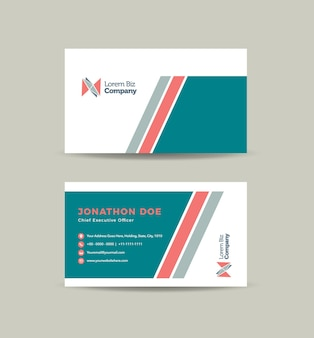 Design de cartão de visita corporativo ou cartão de visita e cartão de visita pessoal