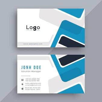 Design de cartão de visita corporativo