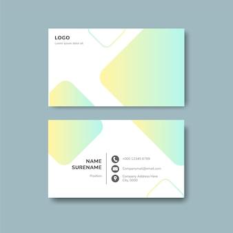 Design de cartão de visita criativo geométrico