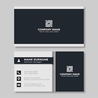 Design de cartão de visita criativo simples preto