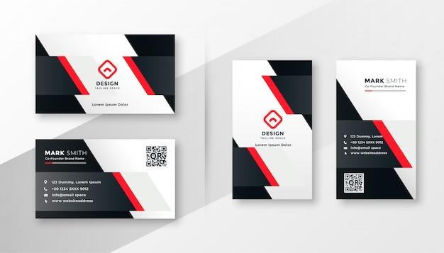 Design de cartão de visita da empresa vermelho