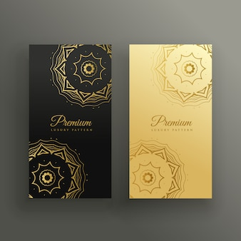 Design de cartão de visita de estilo premium mandala