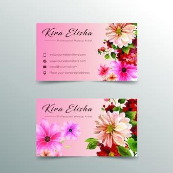 Design de cartão de visita de flor