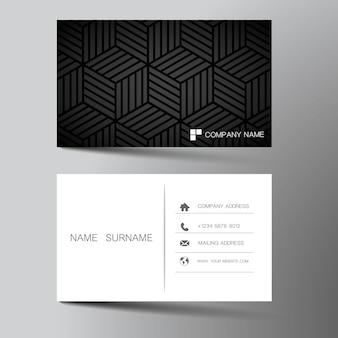 Design de cartão de visita de ilustração